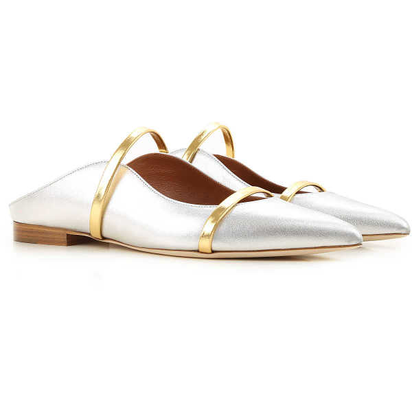 Malone Souliers Ballet Flats Ballerina Shoes for Women Silver UK - GOOFASH