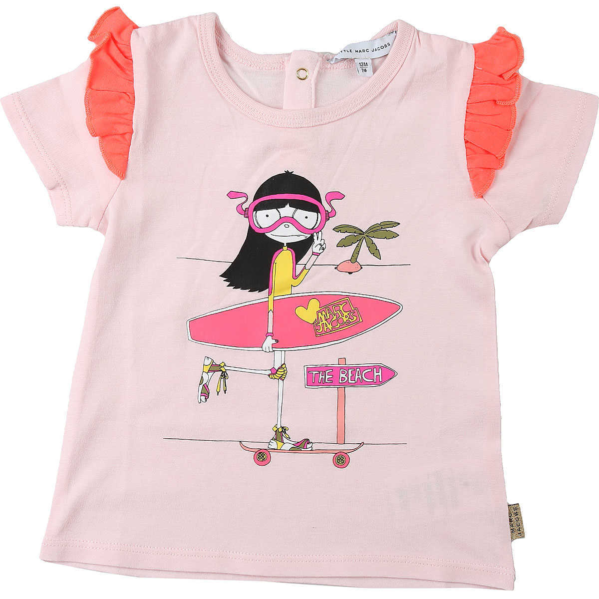 Marc Jacobs Baby T-Shirt for Girls On Sale Pink - GOOFASH - Womens T-SHIRTS