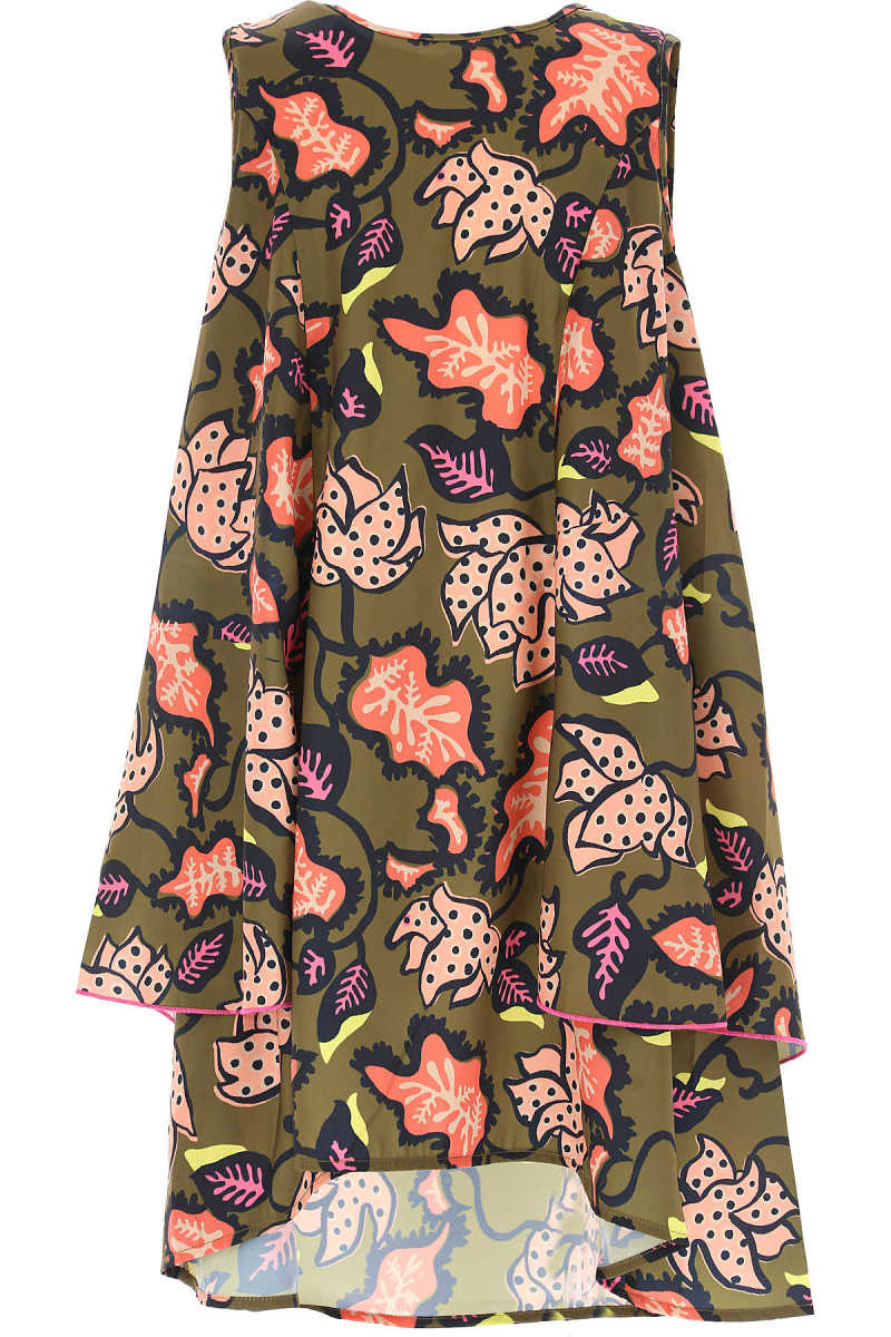 Marc Jacobs Girls Dress On Sale Khaki Green UK - GOOFASH - Womens DRESSES