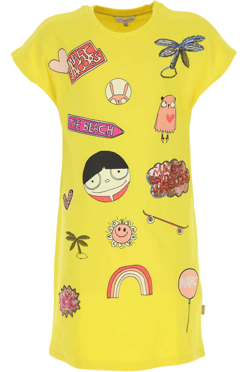 Marc Jacobs Girls Dress On Sale Yellow - GOOFASH - Womens DRESSES
