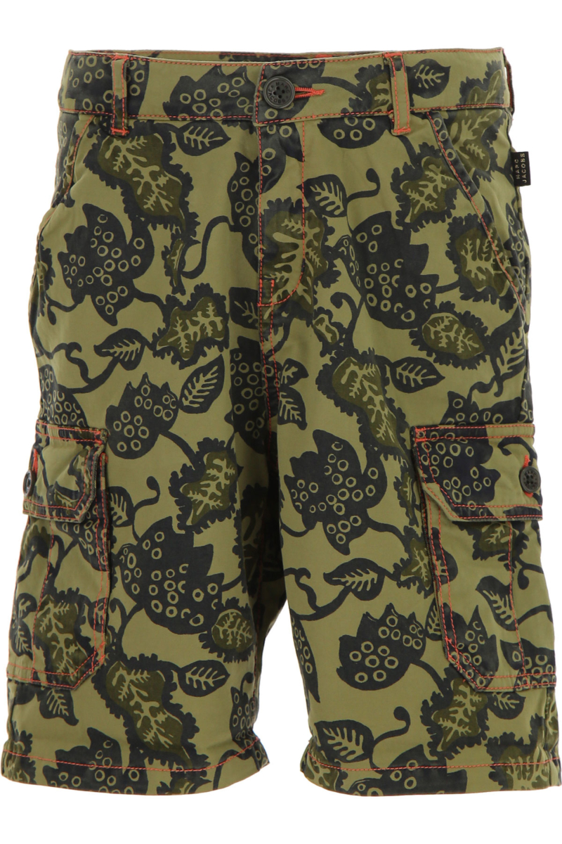Marc Jacobs Kids Shorts for Boys On Sale Olive - GOOFASH - Mens SHORTS