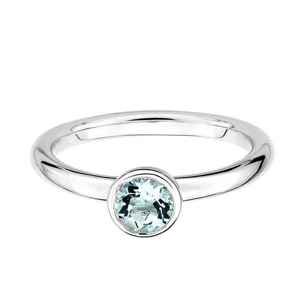 March Birthstone Stack Ring in Sterling Silver - Helzberg Diamonds USA - GOOFASH - Womens JEWELRY