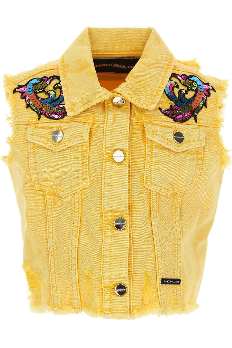 Marco Bologna Kids Jacket for Girls On Sale Yellow - GOOFASH - Womens JACKETS