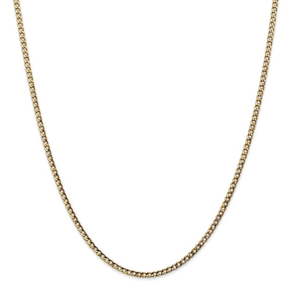 Men's Curb Link Chain in 14K Yellow Gold