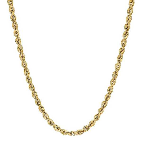 Men's Rope Chain in 14K Yellow Gold