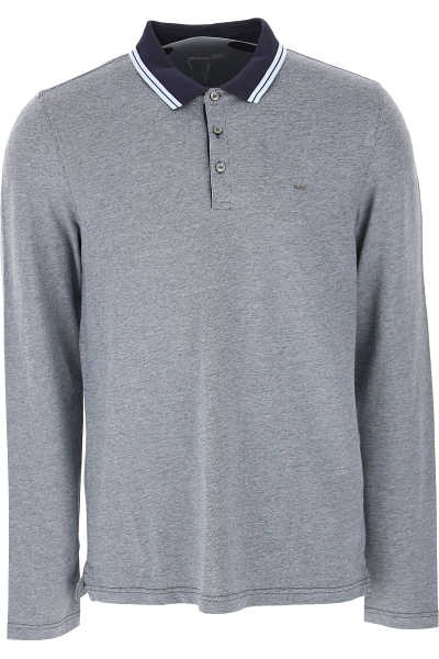 Michael Kors Polo Shirt for Men Melange Blue - GOOFASH