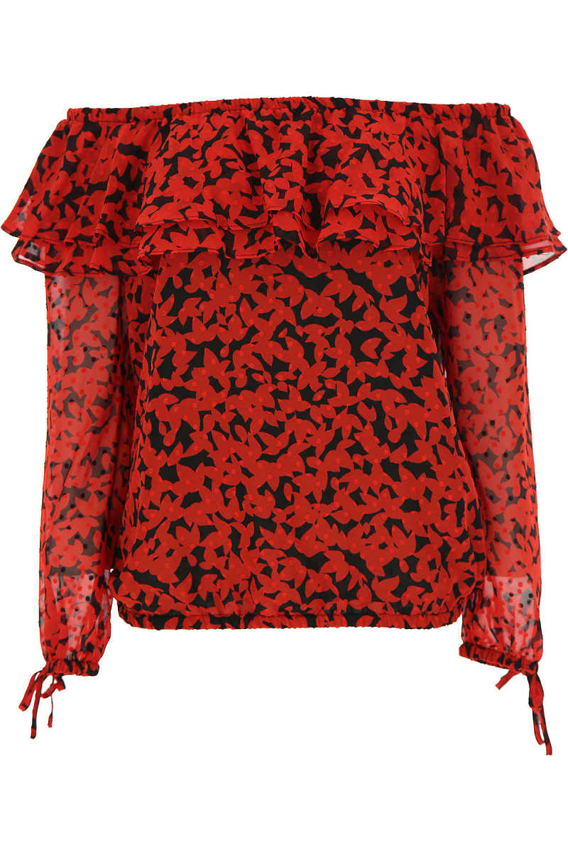 Michael Kors Top for Women Red - GOOFASH