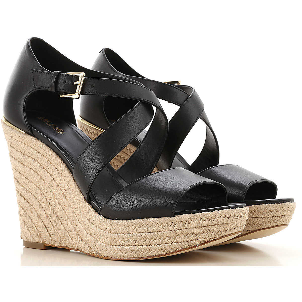 Michael Kors Wedges for Women On Sale Black UK - GOOFASH