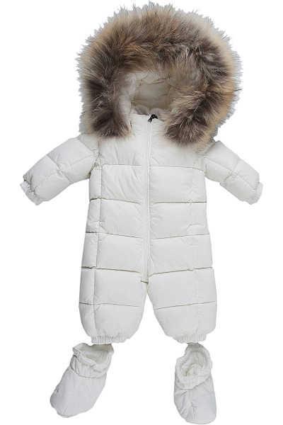 Moncler Baby Bodysuits & Onesies for Boys White - GOOFASH - Mens SUITS