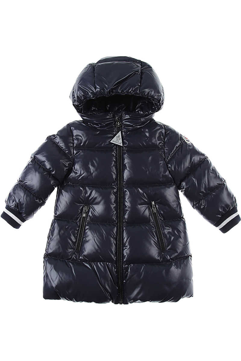 Moncler Baby Down Jacket for Girls Blue UK - GOOFASH - Womens JACKETS