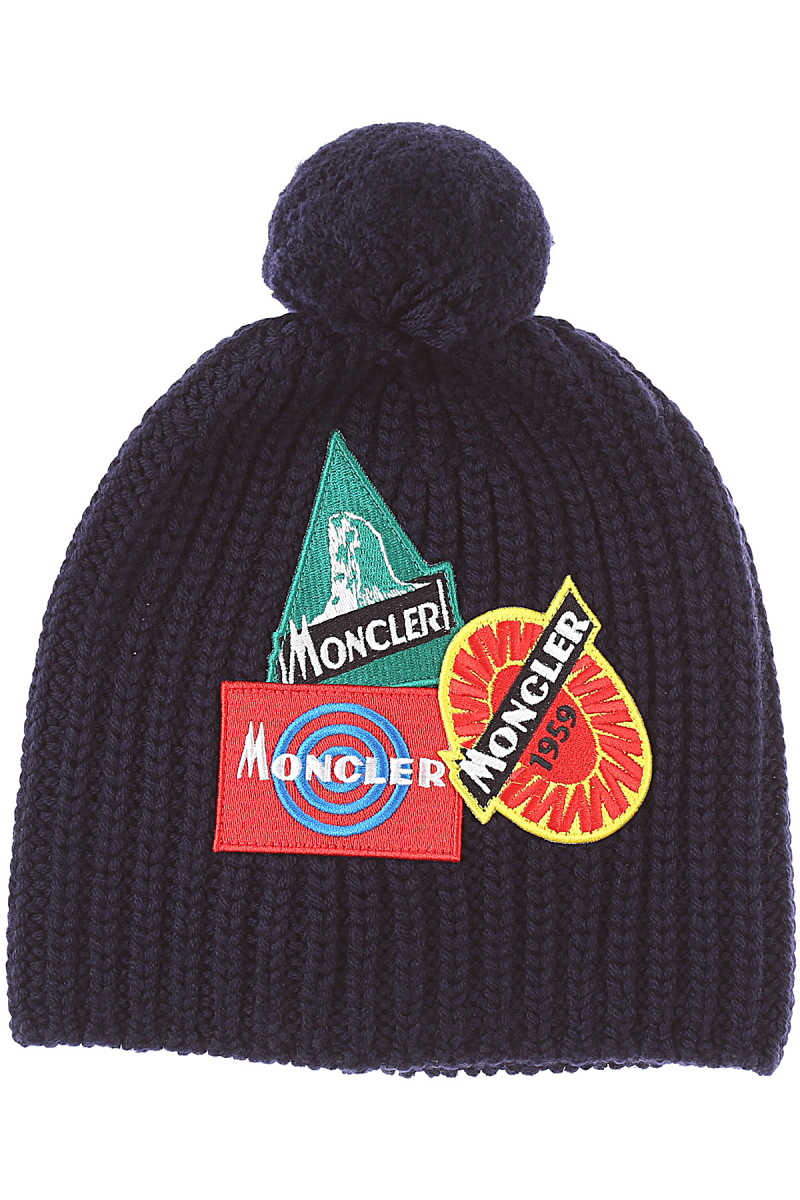 Moncler Kids Hats for Boys navy - GOOFASH - Mens HATS