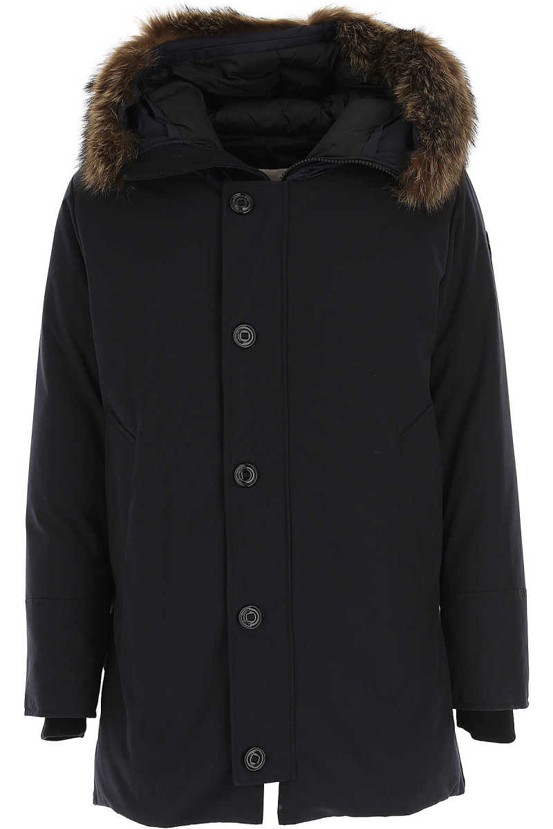 Moncler Men's Coat Midnight Blue - GOOFASH