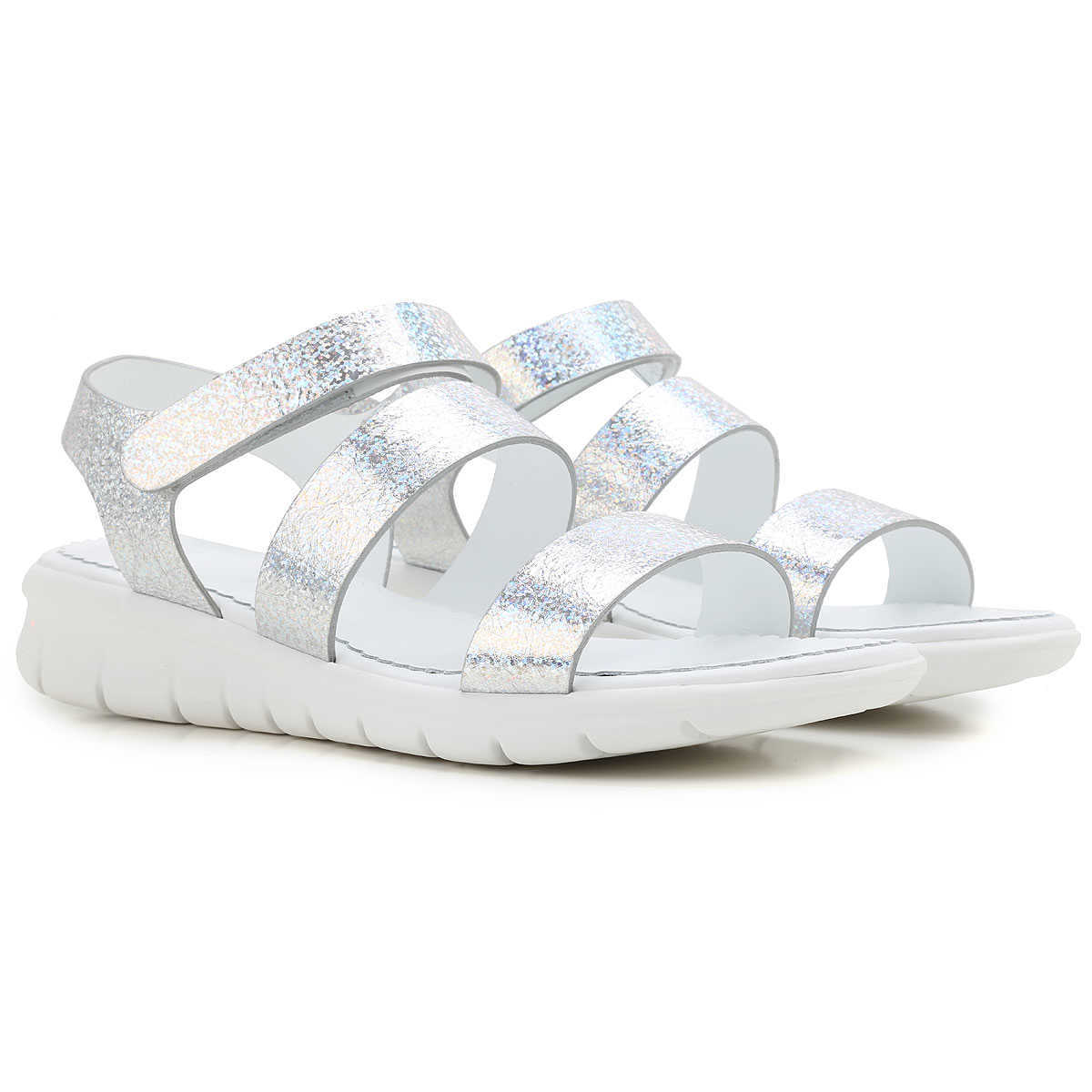 Moncler Sandals for Women On Sale in Outlet Silver UK - GOOFASH