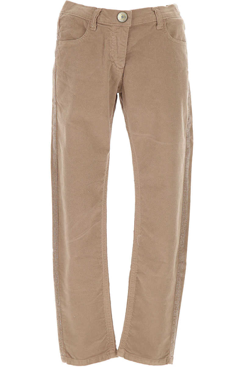 Monnalisa Kids Pants for Girls On Sale in Outlet Beige - GOOFASH - Womens TROUSERS