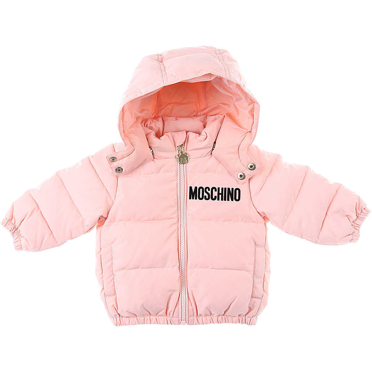 Moschino Baby Down Jacket for Girls Pink - GOOFASH - Womens JACKETS