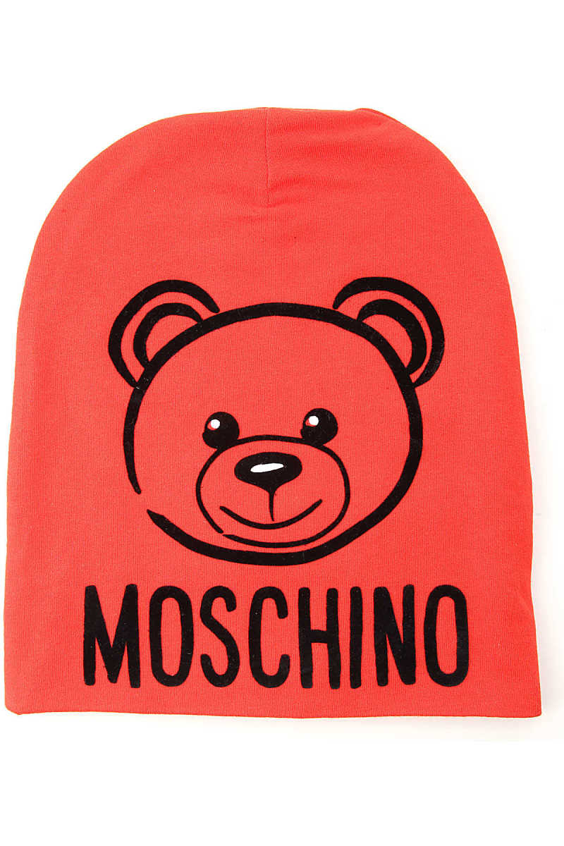 Moschino Kids Hats for Boys Red - GOOFASH