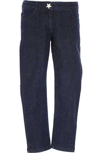 Moschino Kids Jeans for Boys On Sale in Outlet Blue - GOOFASH - Mens JEANS
