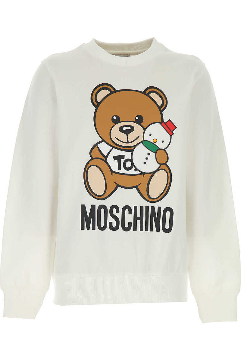 Moschino Kids Sweatshirts & Hoodies for Boys White - GOOFASH - Mens SWEATERS
