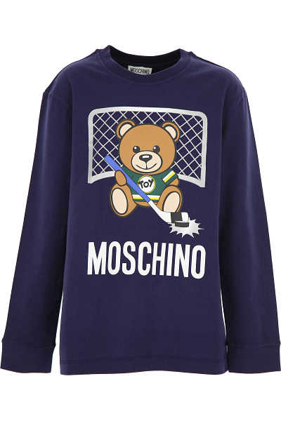 Moschino Kids T-Shirt for Boys Blue - GOOFASH - Mens T-SHIRTS