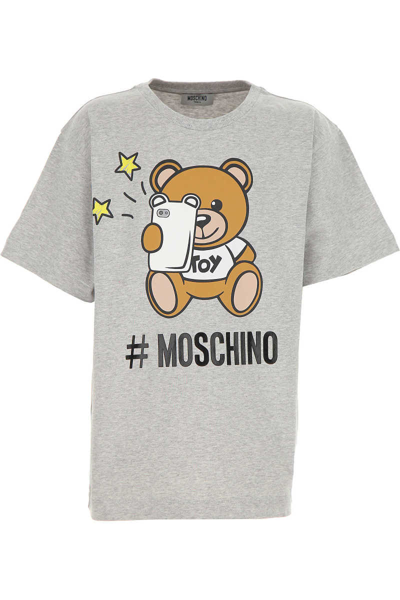 Moschino Kids T-Shirt for Girls On Sale Grey - GOOFASH - Womens T-SHIRTS