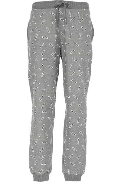 Moschino Pants for Men On Sale in Outlet Grey Melange - GOOFASH