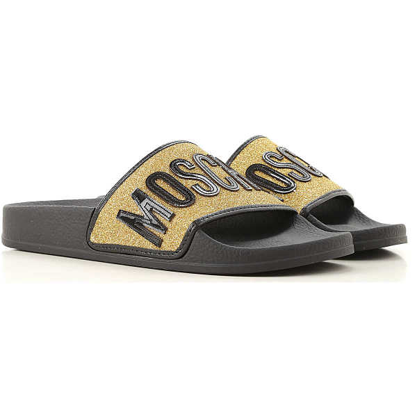 Moschino Sandals for Women On Sale Black UK - GOOFASH