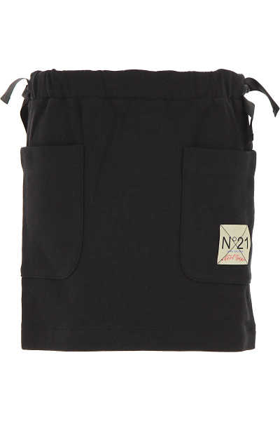 NO 21 Kids Skirts for Girls Black UK - GOOFASH - Womens SKIRTS