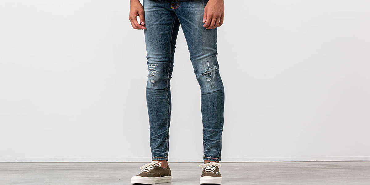 Nudie Jeans Tight Terry Worn Repaired HU - GOOFASH - Mens JEANS