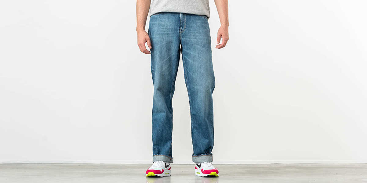 Our Legacy Gift From Mom Wash Formal Cut Jeans Blue Denim HU - GOOFASH - Mens JEANS