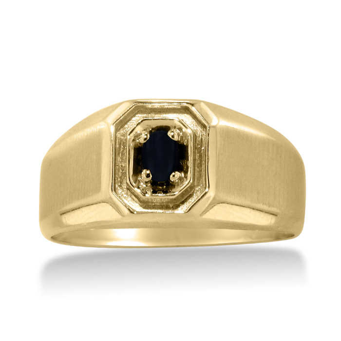 Oval Black Onyx Men's Ring Crafted in Solid Yellow Gold UK - GOOFASH - Mens JEWELRY