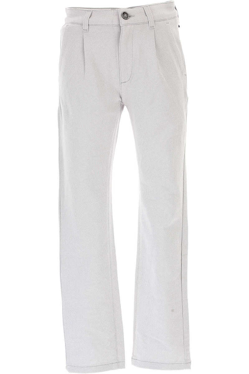 Paolo Pecora Kids Pants for Boys On Sale in Outlet Grey Ice UK - GOOFASH - Mens TROUSERS
