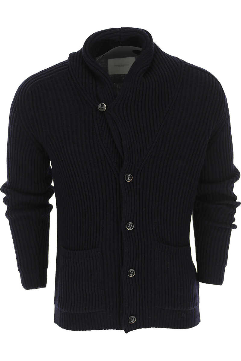 Paolo Pecora Sweater for Men Jumper Blue UK - GOOFASH - Mens SWEATERS