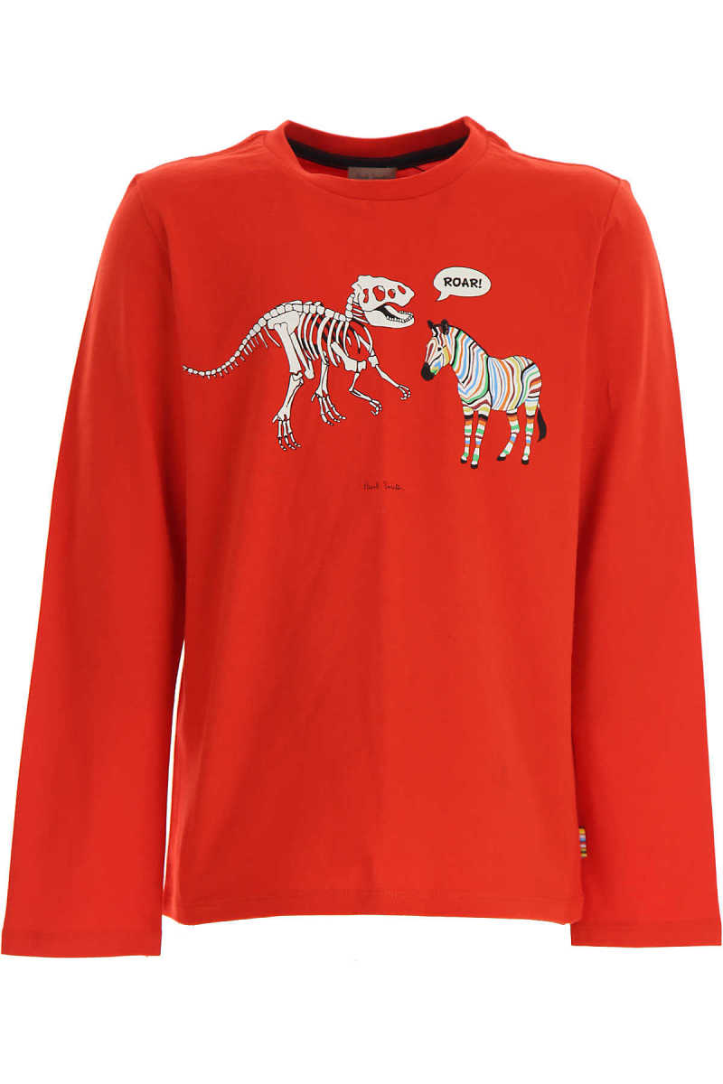 Paul Smith Kids T-Shirt for Boys Red - GOOFASH