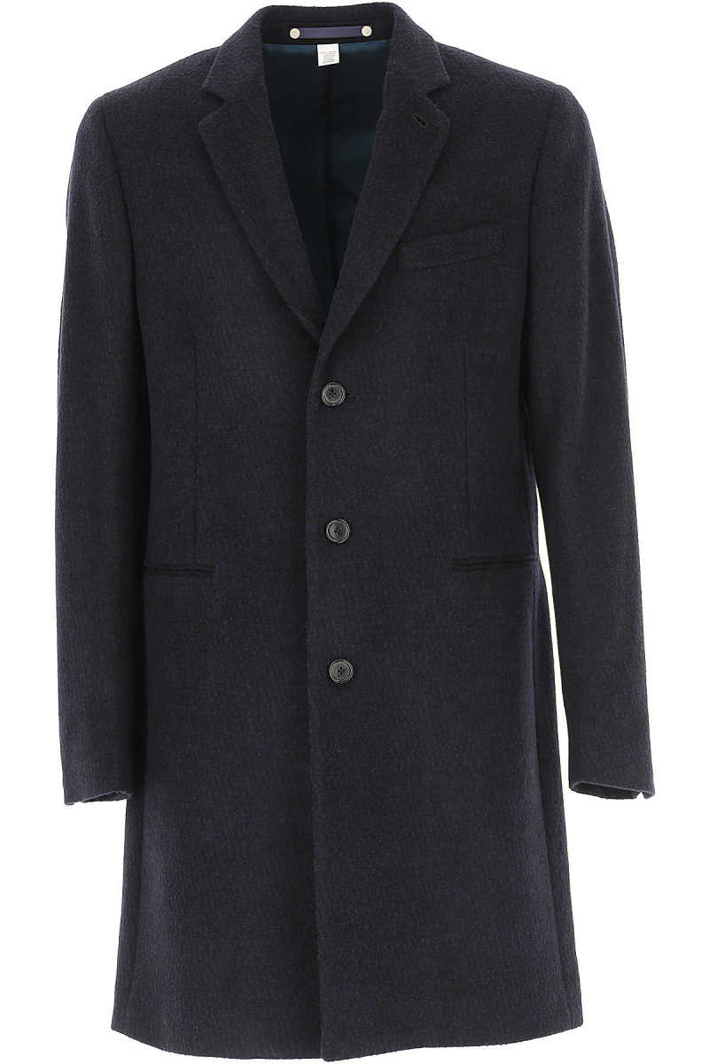 Paul Smith Men's Coat Midnight Blue - GOOFASH