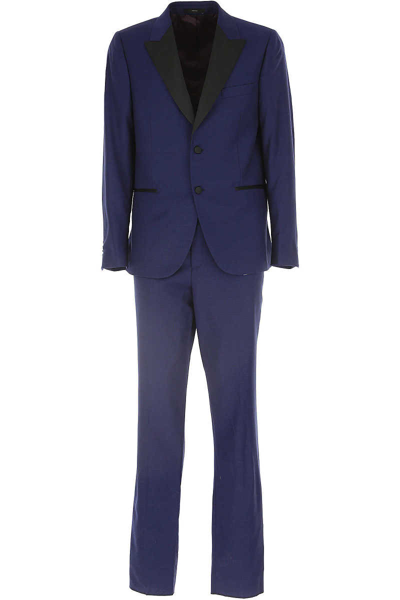 Paul Smith Men's Suit On Sale Bluette Melange UK - GOOFASH - Mens SUITS