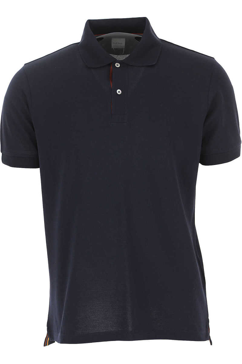 Paul Smith Polo Shirt for Men On Sale Blue Ink - GOOFASH