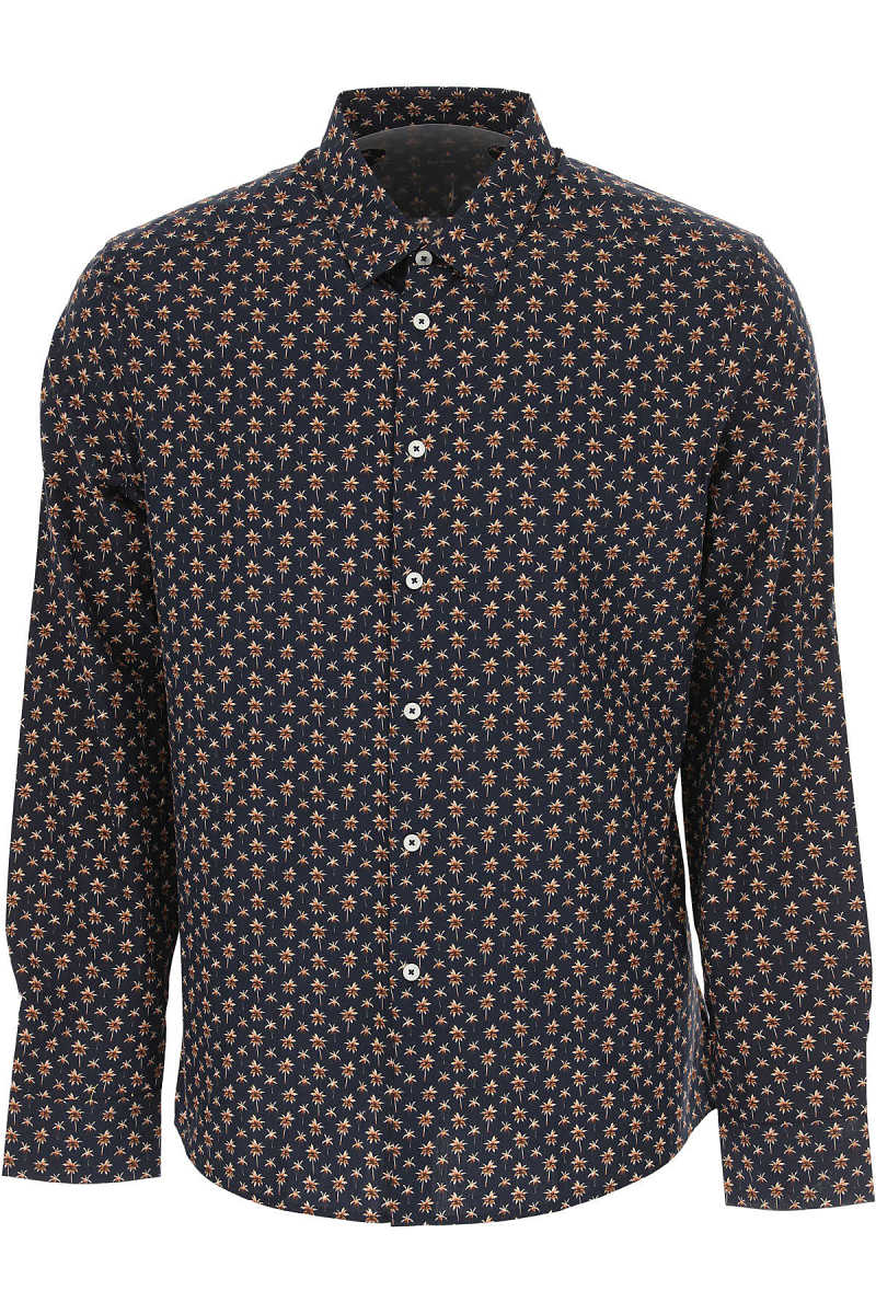 Paul Smith Shirt for Men On Sale in Outlet Blue Marine - GOOFASH