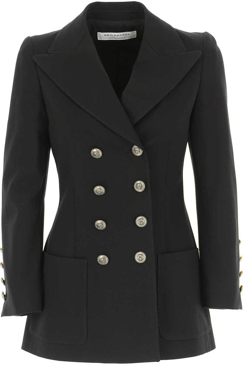 Philosophy di Lorenzo Serafini Blazer for Women Black - GOOFASH