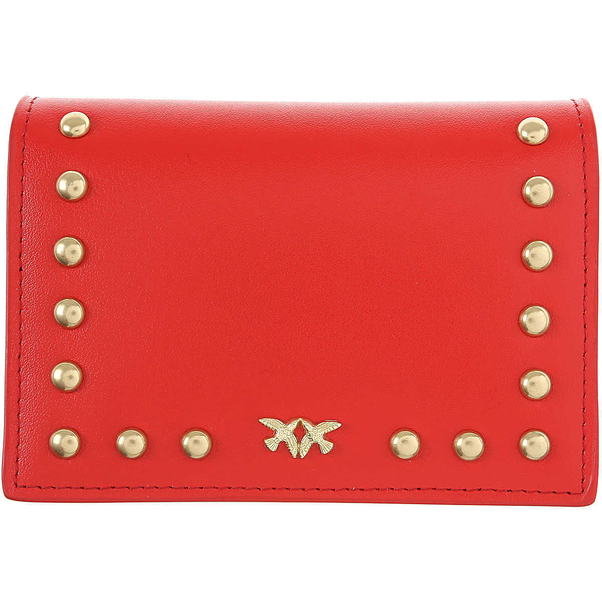 Pinko Card Holder for Women On Sale coral red UK - GOOFASH