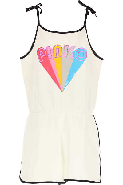 Pinko Girls Dress On Sale White UK - GOOFASH - Womens DRESSES