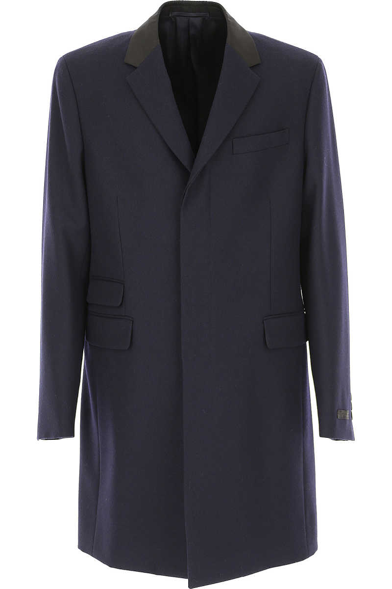 Prada Men's Coat On Sale Blue UK - GOOFASH - Mens COATS