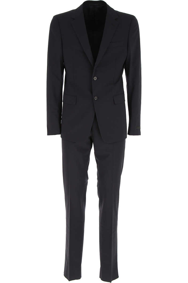 Prada Men's Suit On Sale in Outlet Blue Ink UK - GOOFASH - Mens SUITS
