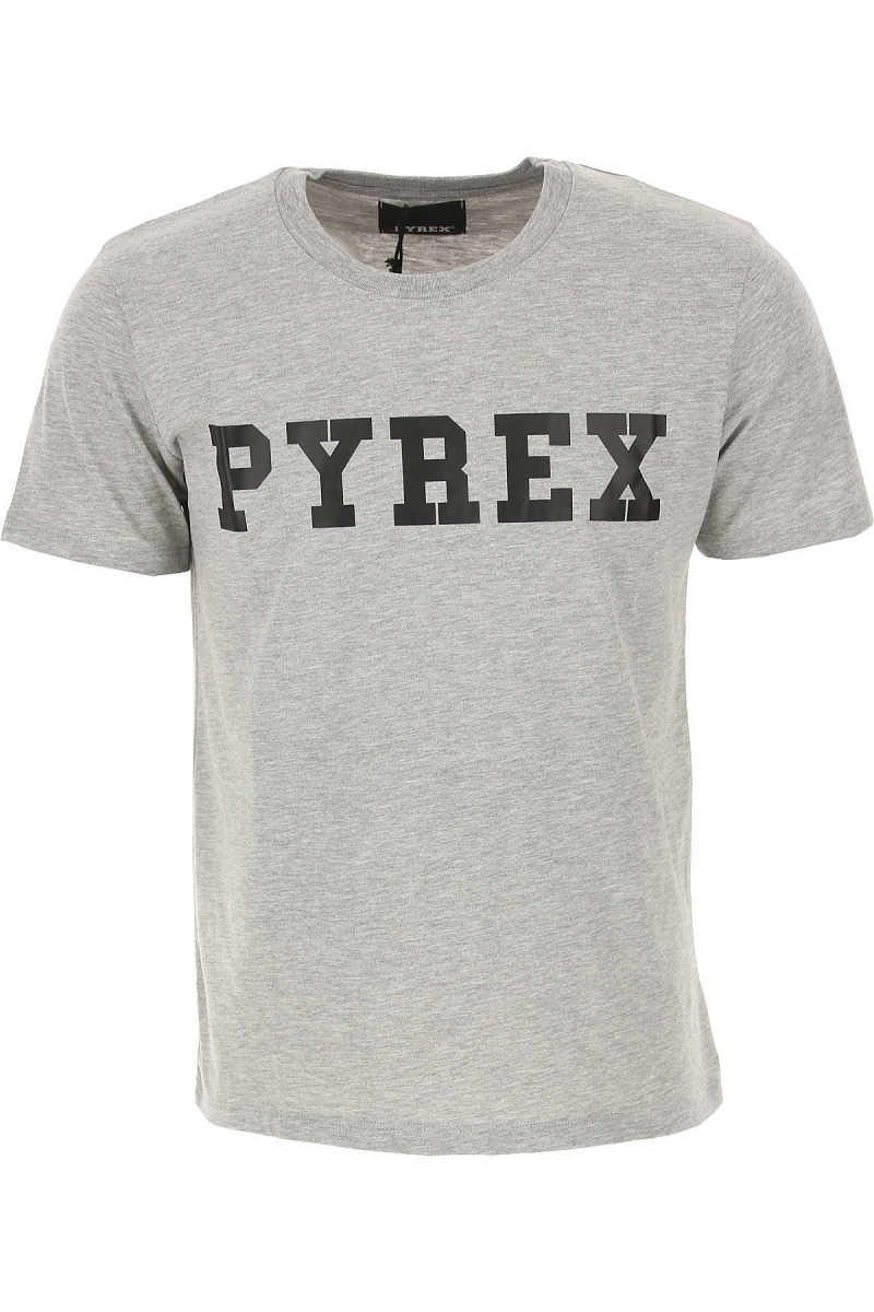Pyrex T-Shirt for Men On Sale in Outlet Grey - GOOFASH