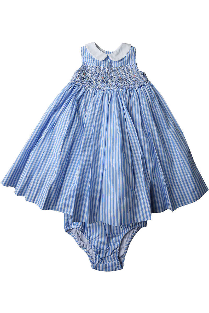 Ralph Lauren Baby Dress for Girls On Sale in Outlet Blue - GOOFASH - Womens DRESSES