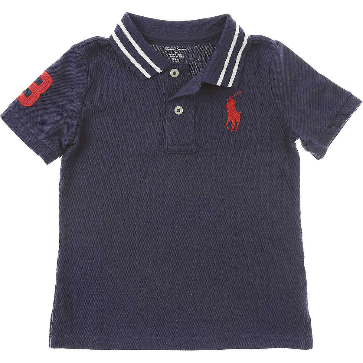 Ralph Lauren Baby Polo Shirt for Boys On Sale in Outlet Blue UK - GOOFASH - Mens POLOSHIRTS