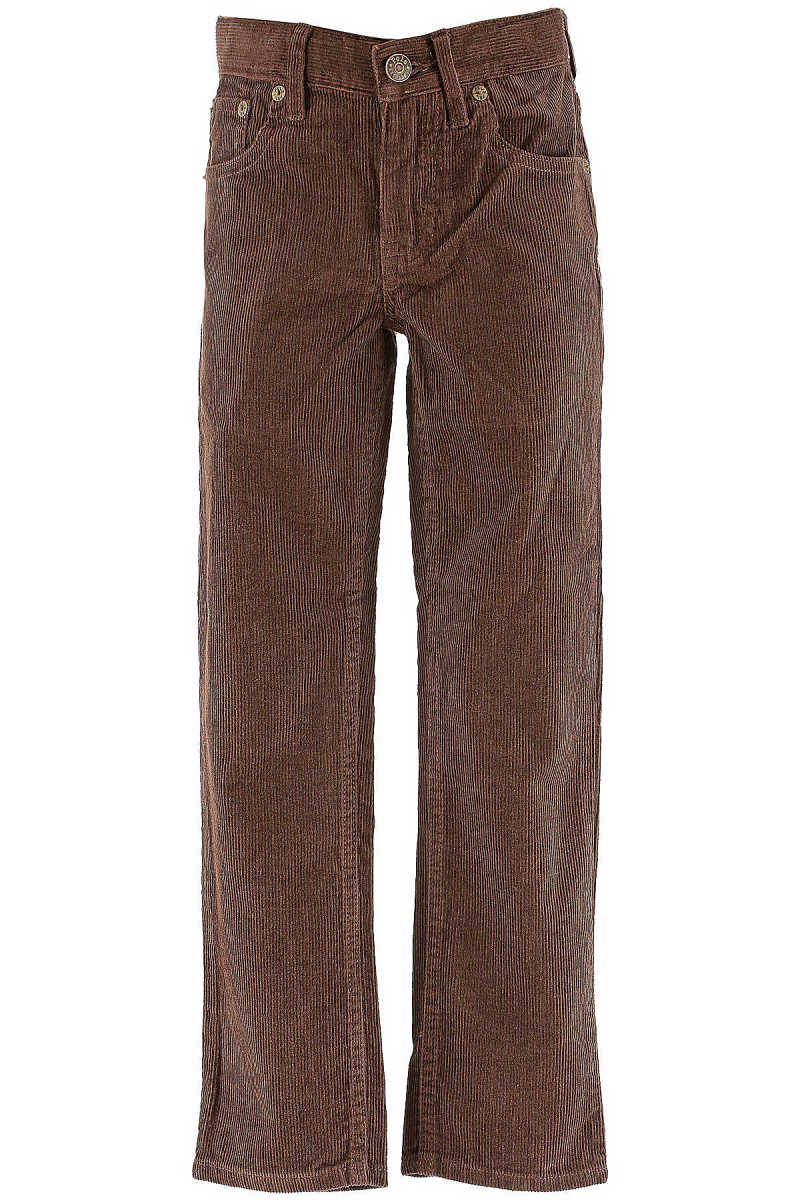 Ralph Lauren Kids Pants for Boys On Sale in Outlet Brown UK - GOOFASH - Mens TROUSERS