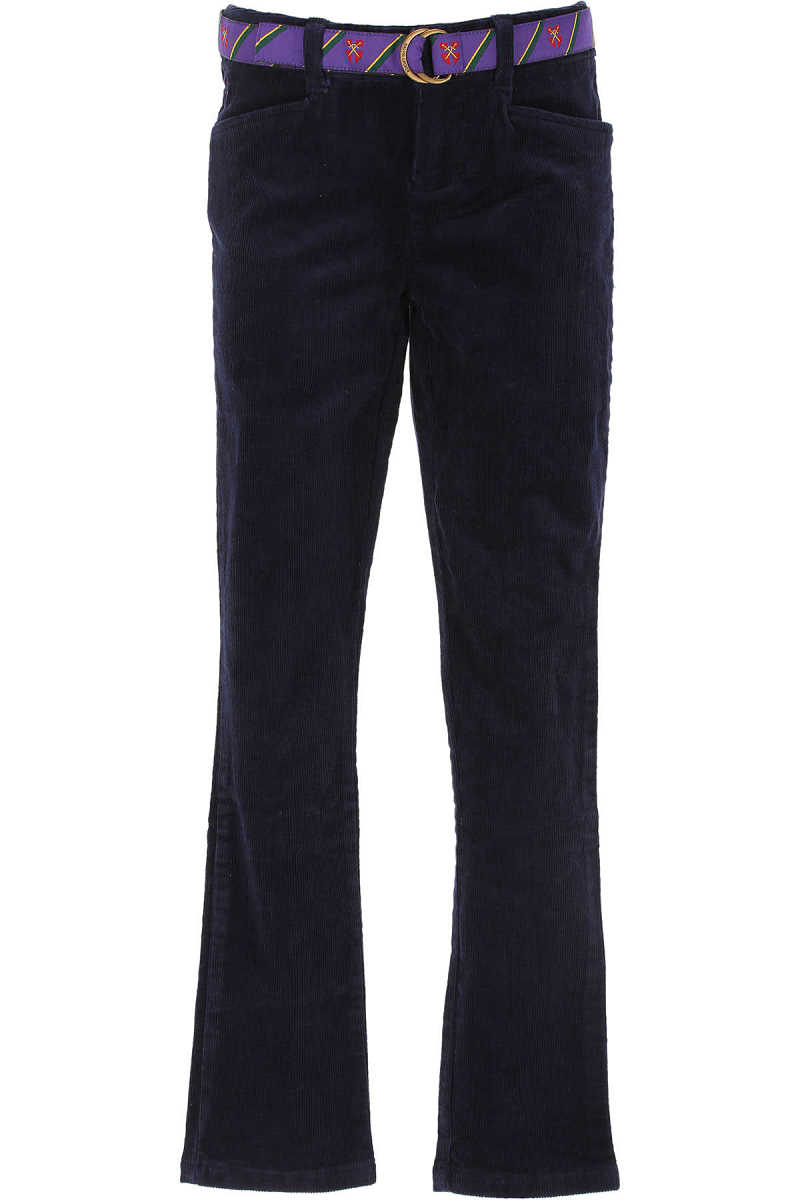 Ralph Lauren Kids Pants for Girls On Sale in Outlet Blue UK - GOOFASH - Womens TROUSERS