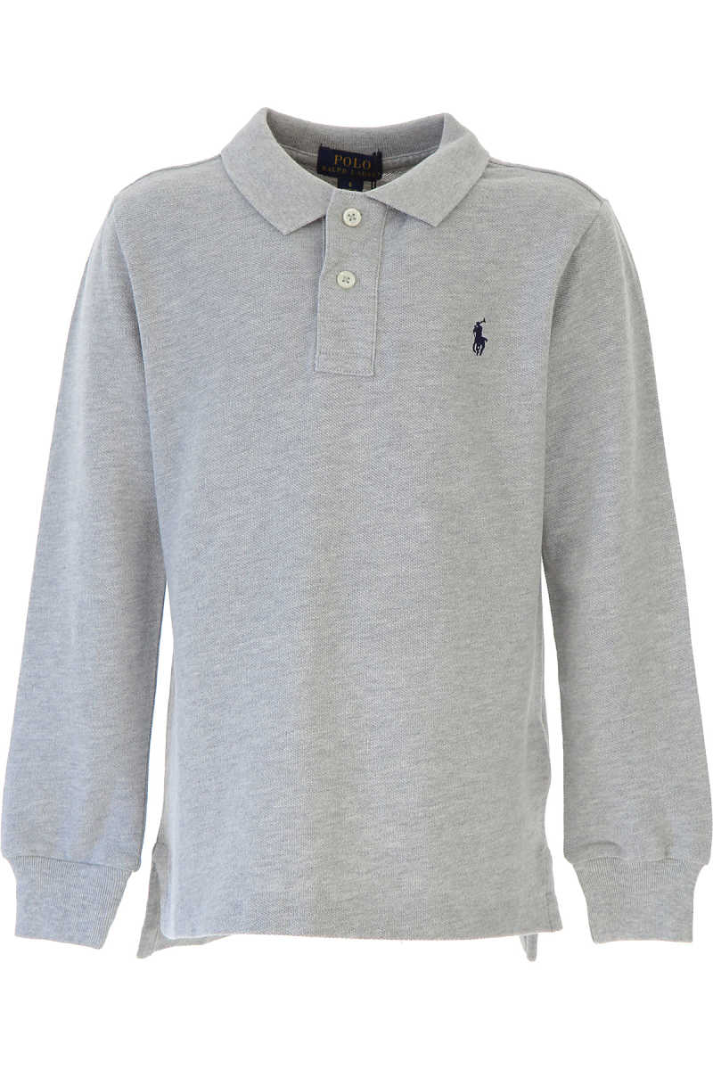Ralph Lauren Kids Polo Shirt for Boys Grey - GOOFASH - Mens POLOSHIRTS