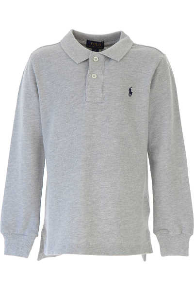 Ralph Lauren Kids Polo Shirt for Boys Grey UK - GOOFASH - Mens POLOSHIRTS