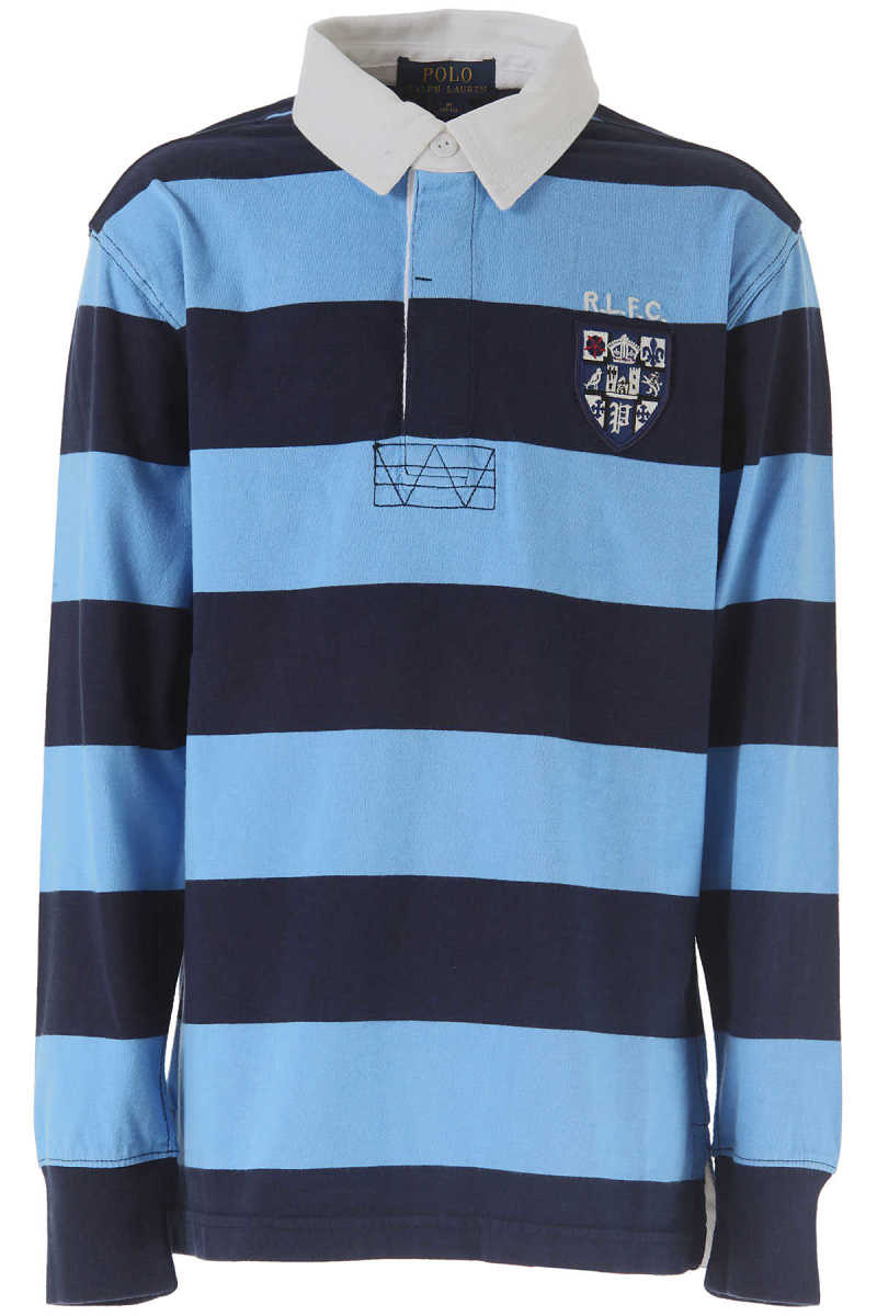 Ralph Lauren Kids Polo Shirt for Boys On Sale in Outlet Blue UK - GOOFASH - Mens POLOSHIRTS